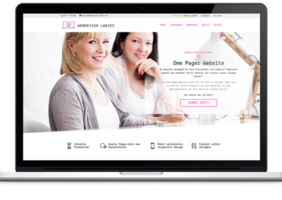 Webdesign Ladies - One Pager Website