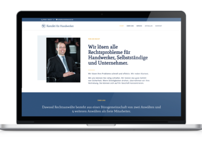 Rechtsanwaltskanzlei - One Pager Website